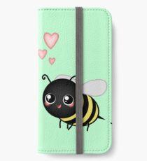 Kawaii Bumble Bee & Kawaii Daisy | Pink Blossom Flower iPhone Wallet/Case/Skin