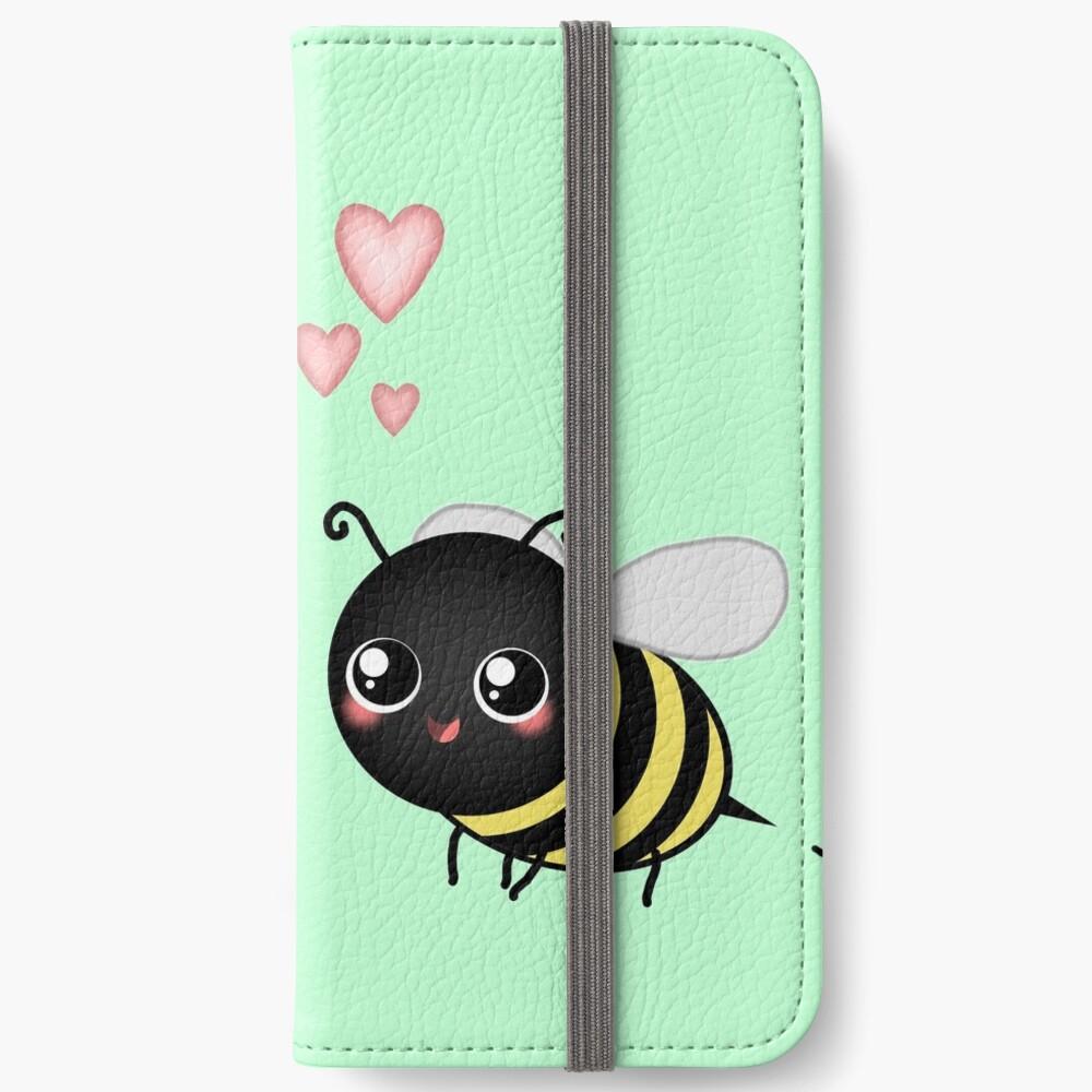 Kawaii Bumble Bee & Kawaii Daisy | Pink Blossom Flower iPhone Wallet