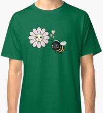 Kawaii Bumble Bee & Kawaii Daisy | Pink Blossom Flower Classic T-Shirt