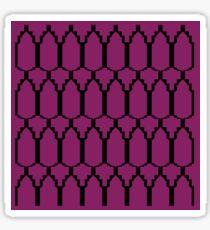 Ethno design blocks, on pink Sticker