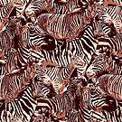 «Patrón gráfico de cebras de pie.» de Ekaterina Glazkova