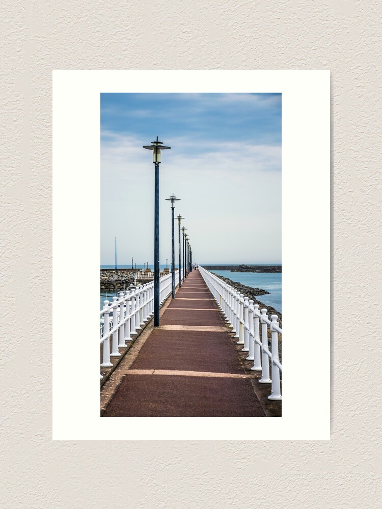 Alternate view of Lampposts in a row, Jersey Art Print