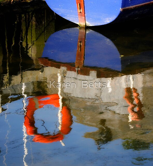 Boats Reflection by Karen  Betts
