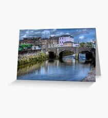 The Canal and a Bridge - Cork, Ireland Greeting Card