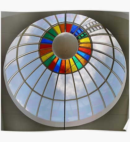 Rainbow circle up above Poster