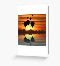 Escape at sunset Greeting Card