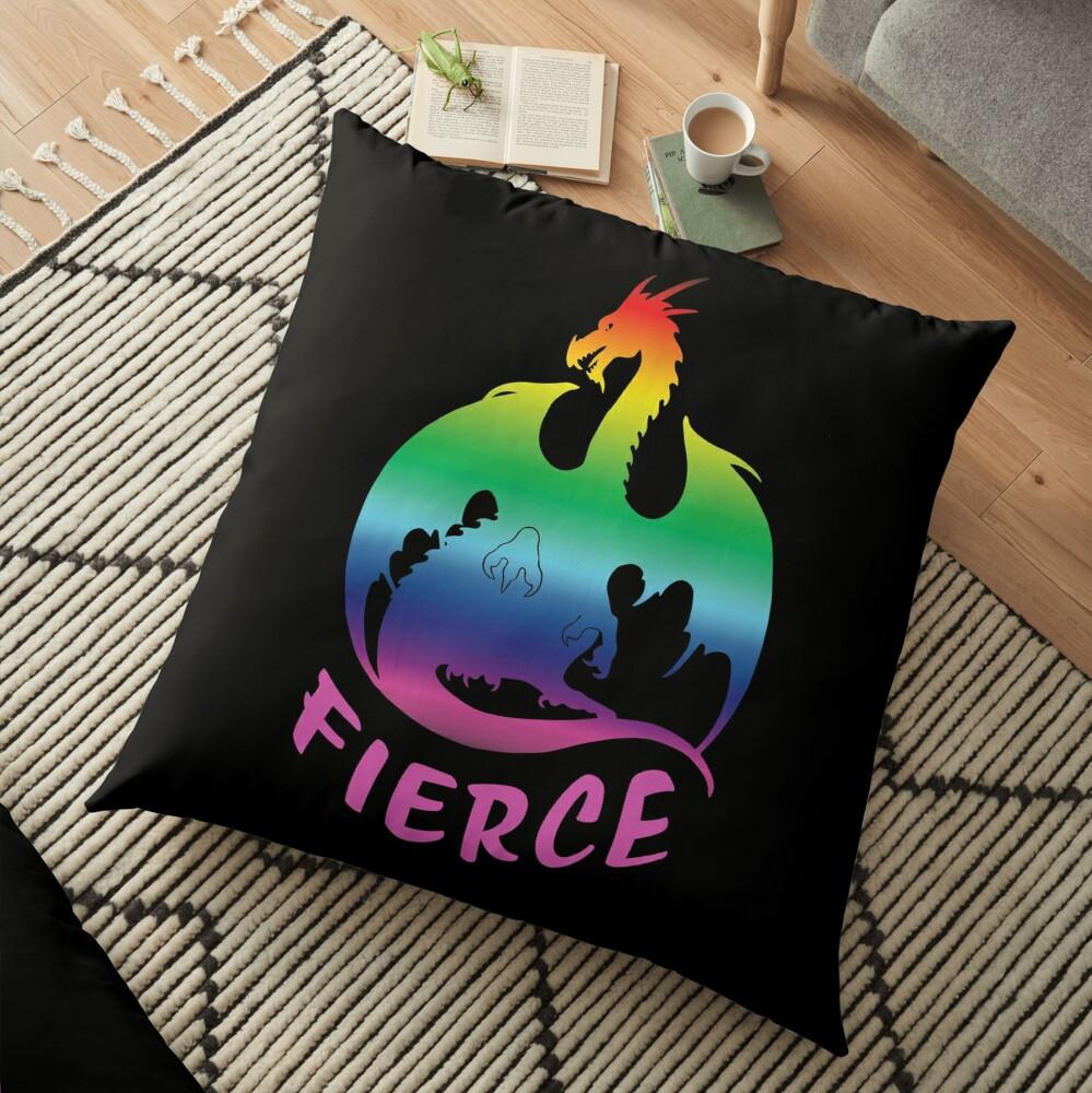 Fierce AF Floor Pillow