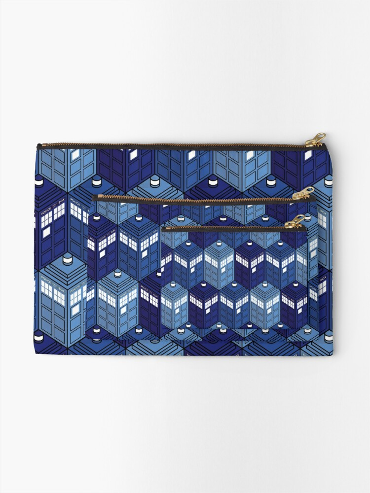 Alternate view of Infinite Phone Boxes Zipper Pouch