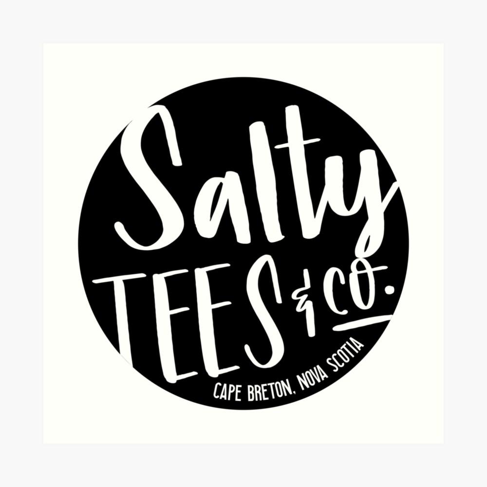 Salzige T-Stücke u. Co.-Logo Kunstdruck