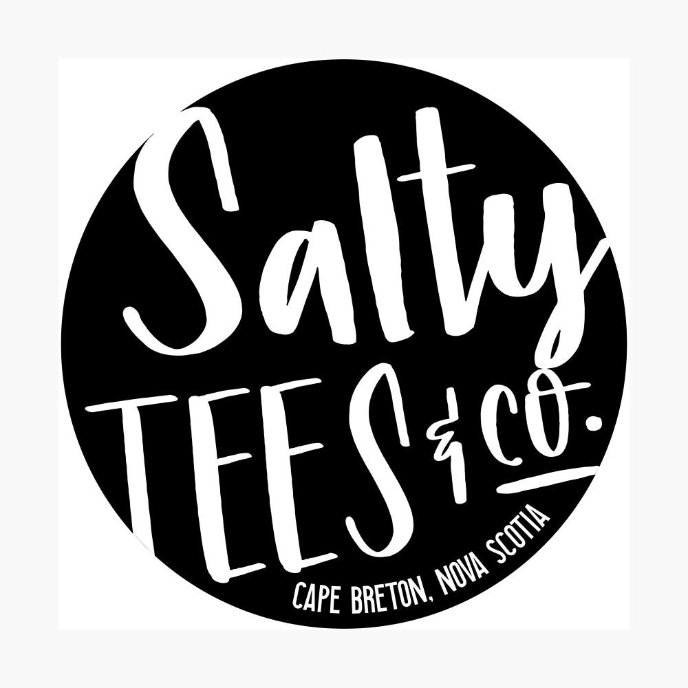 Salzige T-Stücke u. Co.-Logo Fotodruck