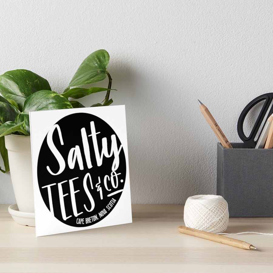 Salzige T-Stücke u. Co.-Logo Galeriedruck
