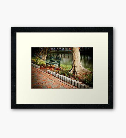 Lumpini park, Bangkok Framed Print