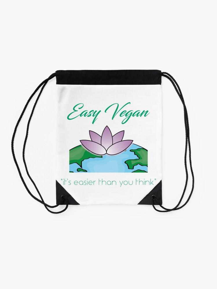 Alternate view of Easy Vegan Drawstring Bag