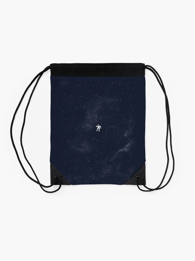 Alternate view of Gravity - Dark Blue Drawstring Bag