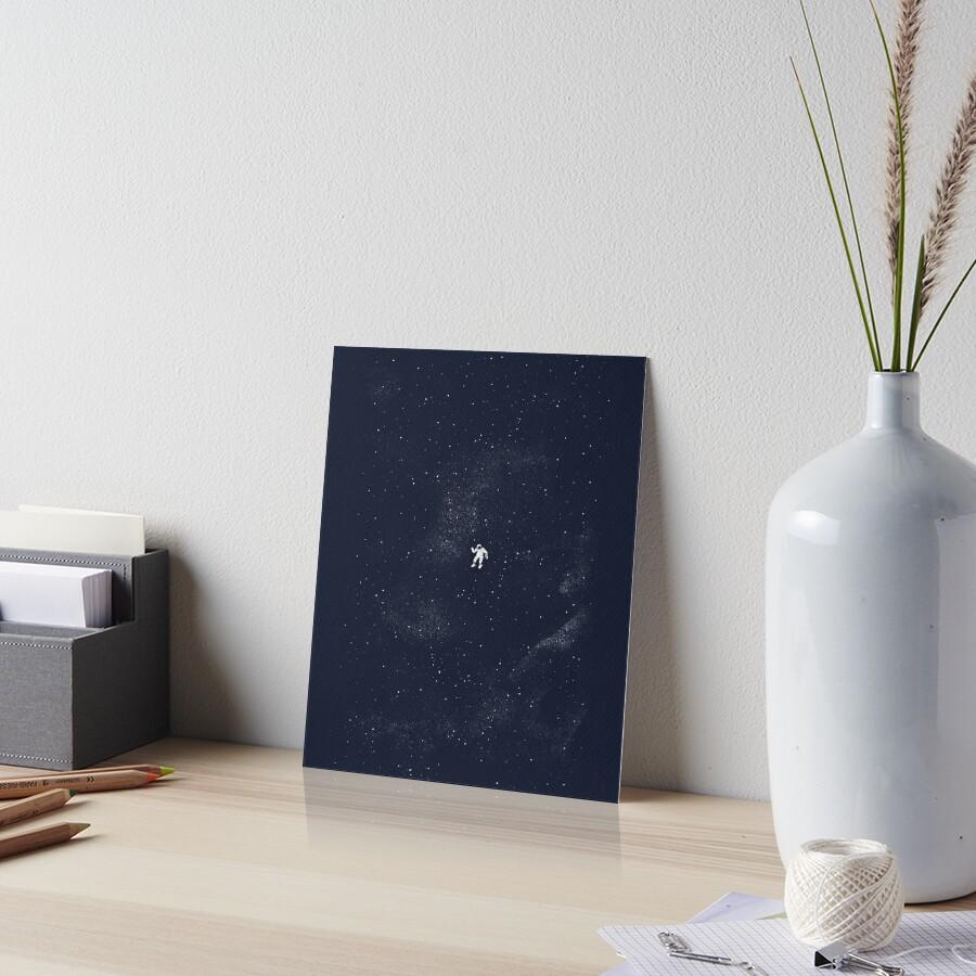 Gravity - Dark Blue Art Board Print