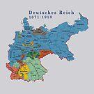 Germany...Deutsches Reich 1871 Map by edsimoneit