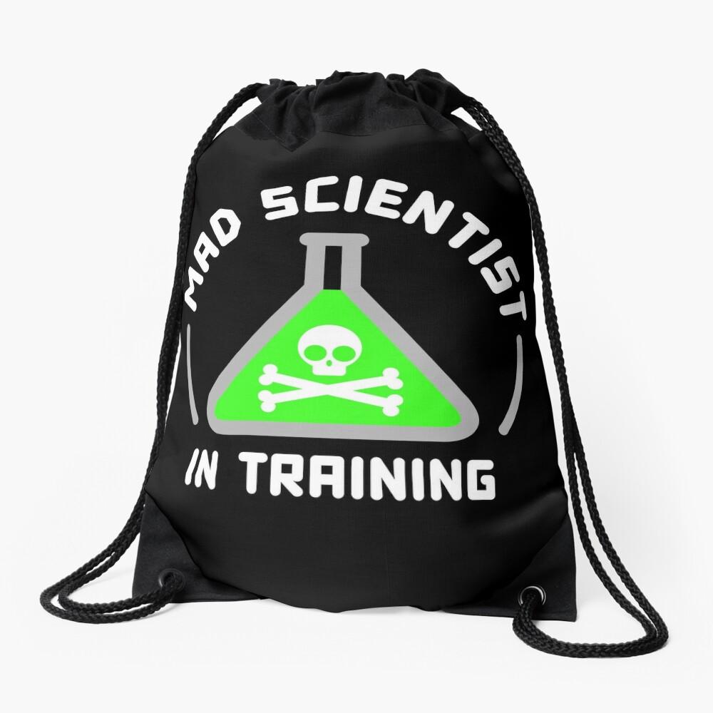 Mad Scientist in Training Drawstring Bag