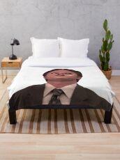 Dwight Schrute - Skin Mask Throw Blanket