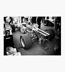 Brabham F1 car in pits Photographic Print