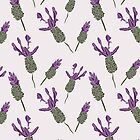 Lavender flower  Purple green color   Repeat pattern by DenesAnnaDesign