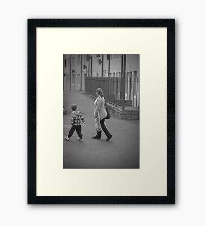 C'mon Mum, Keep Up. Framed Print