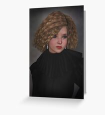 Blonde with black ruffle Greeting Card