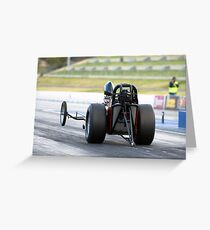 Nostalgic Dragster Greeting Card