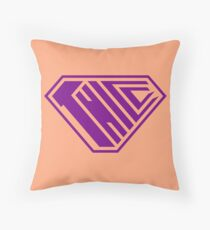 Thicc SuperEmpowered (Purple & Peach) Throw Pillow