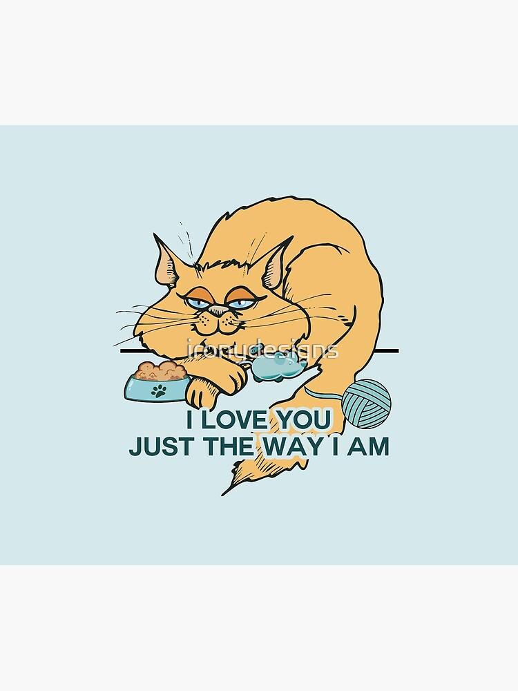 Lustiges Cartoon-Katzen-Sprichwort von ironydesigns