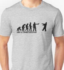 Man vs Zombie Evolution T-Shirt