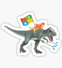 Ninjacat T-Rex Sticker