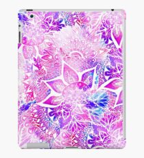 Purple blue henna boho floral mandala pattern iPad Case/Skin