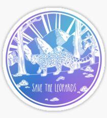Save the Leopards! Sticker