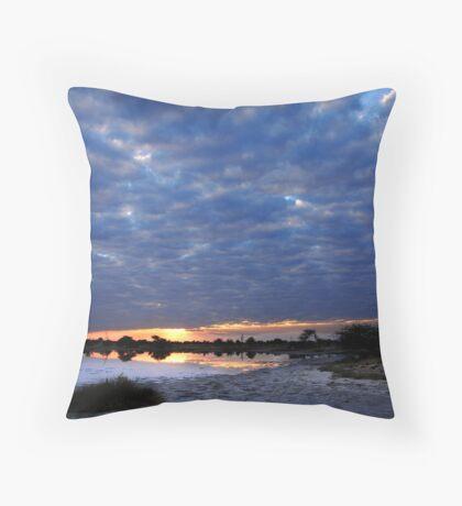 Blue sunset - Okavango Delta, Botswana Throw Pillow
