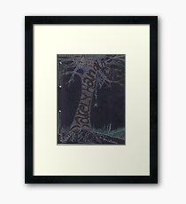 Journal Entry: Porfolio Cover Art (the beginning of a learning journey) Framed Print