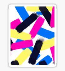 Modern bright abstract brushstrokes paint pattern Sticker