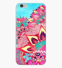 Bohemian boho red blue floral paisley pattern  iPhone Case