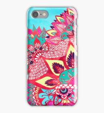 Bohemian boho red blue floral paisley pattern  iPhone Case/Skin