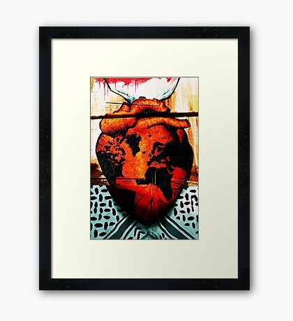 Don't let your heart stop beating in time ... Framed Print
