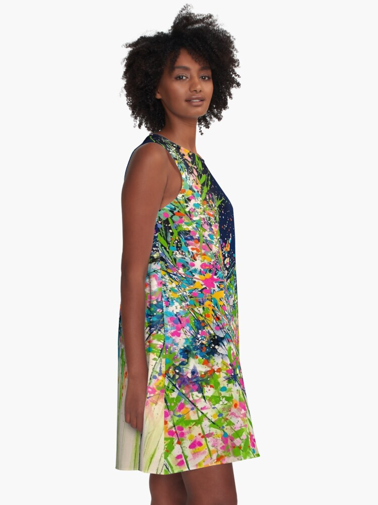 Alternative Ansicht von Spring Splash A-Linien Kleid