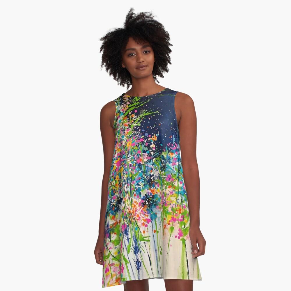 Spring Splash A-Linien Kleid