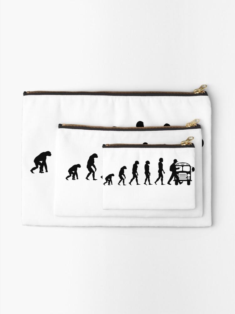Alternative Ansicht von Vom Affen zum Telefonabhängigen in der Evolution der Menschheit Täschchen