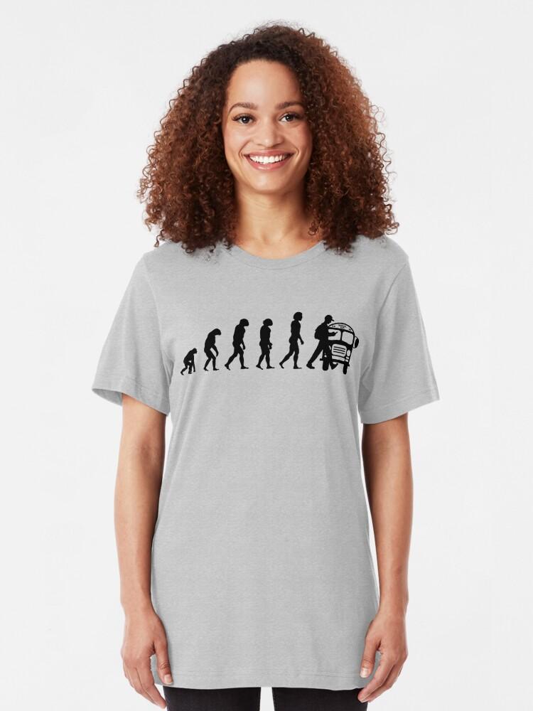 Alternative Ansicht von Vom Affen zum Telefonabhängigen in der Evolution der Menschheit Slim Fit T-Shirt