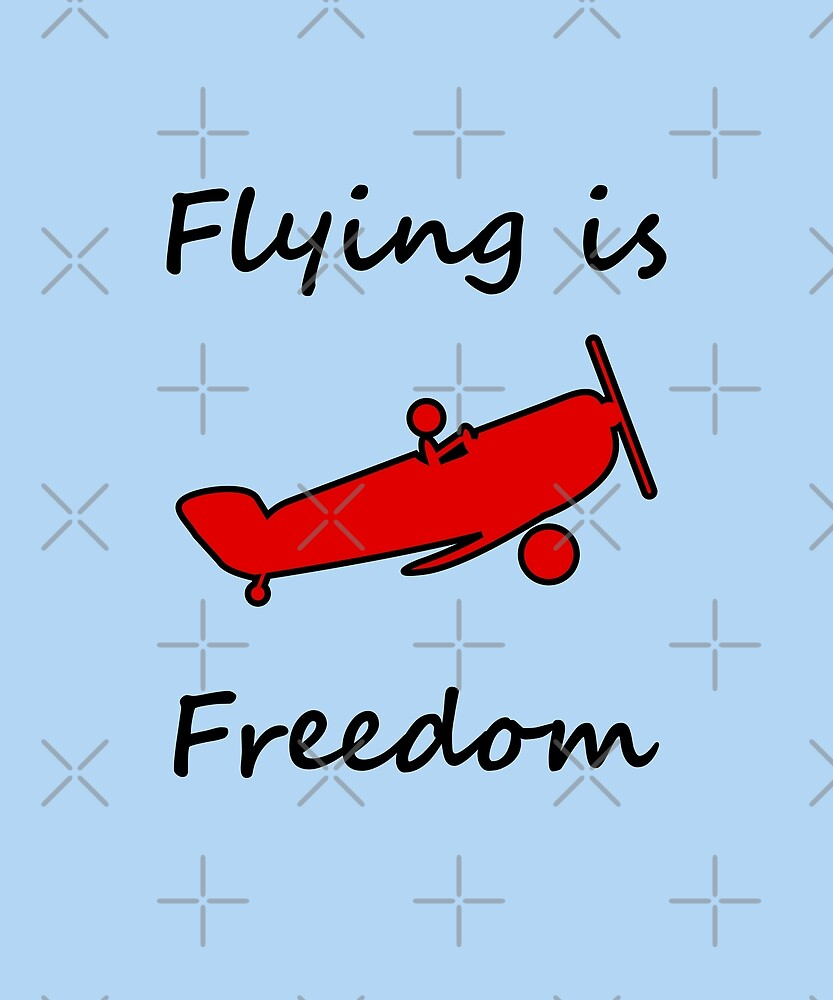 Flying is Freedom Airplane Light-Color by TinyStarAmerica