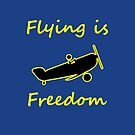 Flying is Freedom Airplane Dark Color by TinyStarAmerica