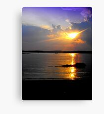 Evening Splendor on Jordan Canvas Print