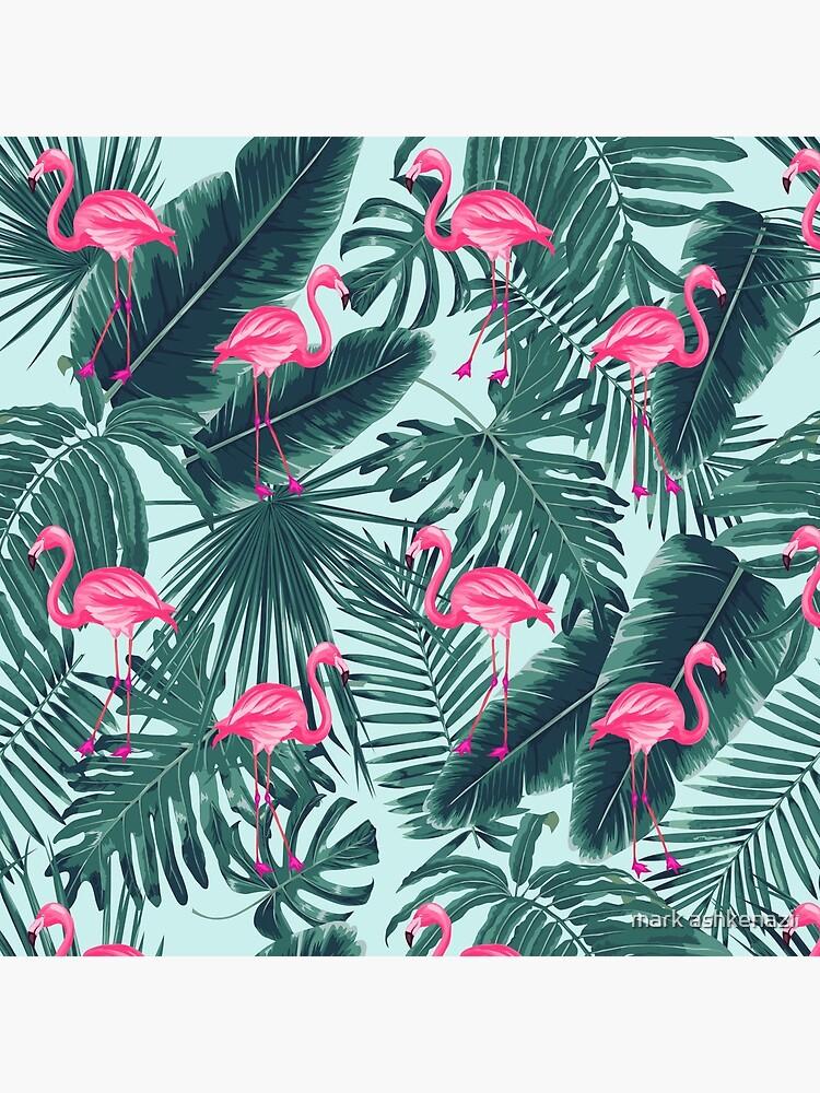tropic abstract flamingo by motiashkar