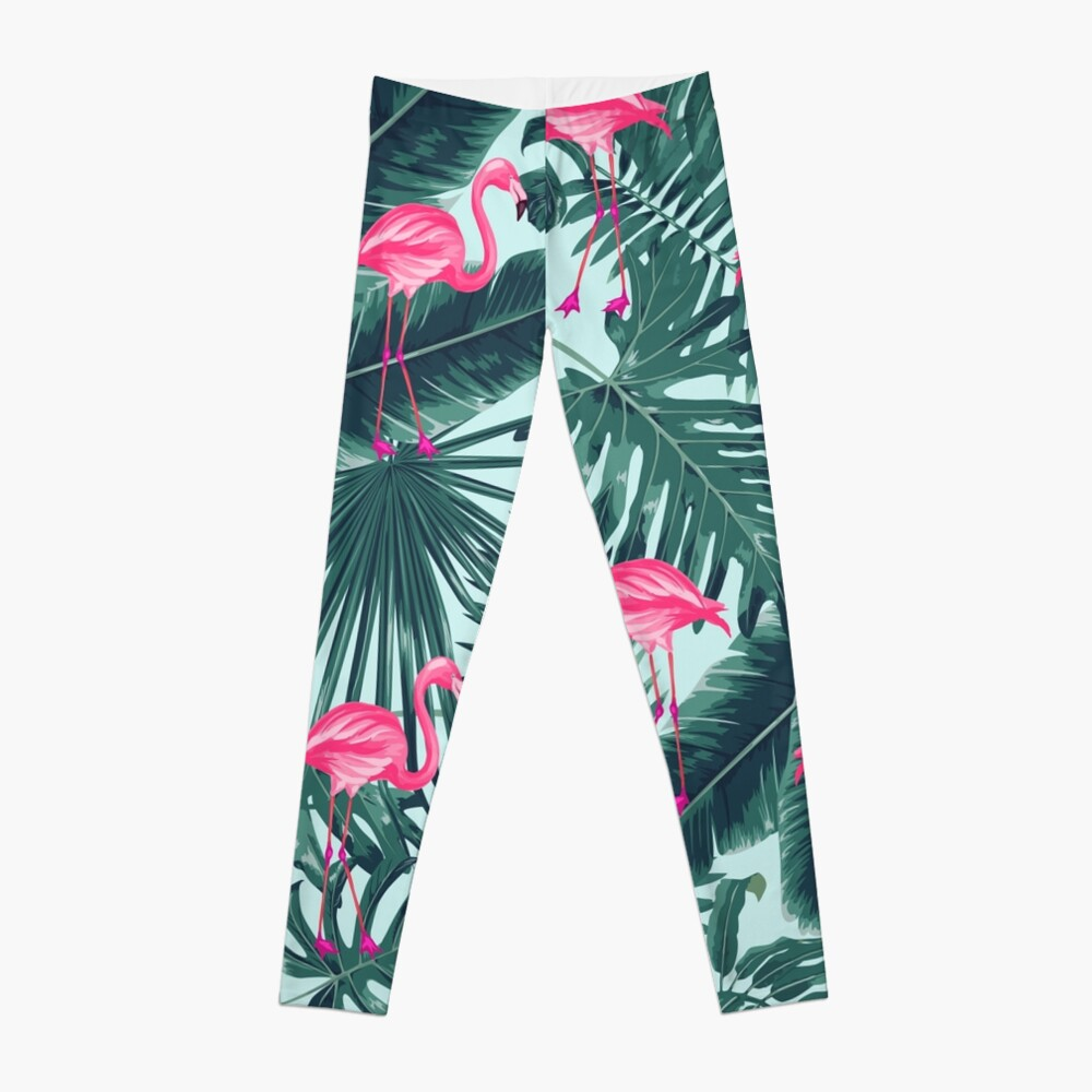 tropic abstract flamingo Leggings
