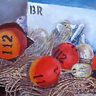 Buoy, oh Buoy (Acrylic Painting) by Marie Theron