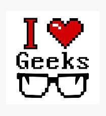 I Heart Geeks Photographic Print